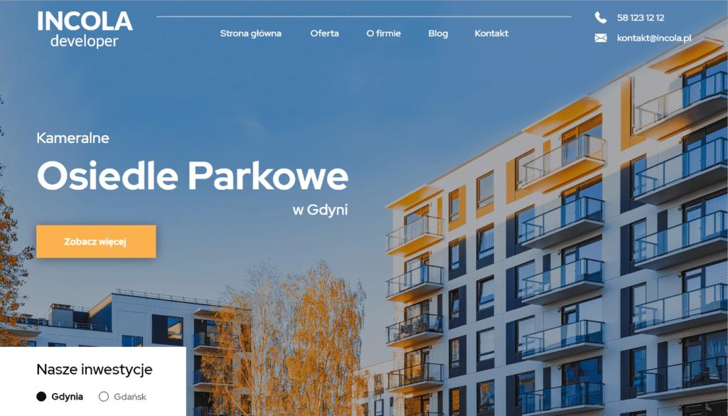 Strona dla dewelopera Gdynia