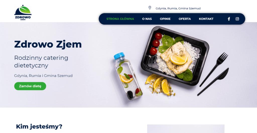 Strona internetowa dla cateringu dietetycznego Zdrowo Zjem