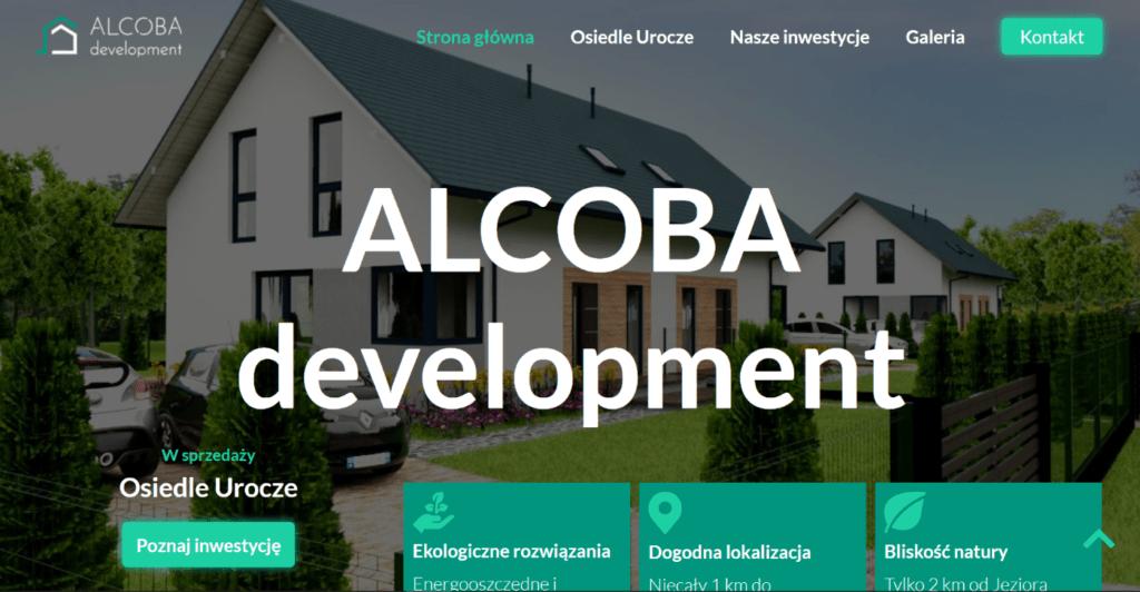 Strona internetowa dla dewelopera Alcoba